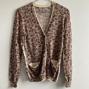 Marc by Marc Jacobs Multicolor V-Neck Cardigan S